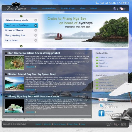 Travel Agency website free sample